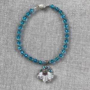 Jewelry - One of a kind choker. Crystal and blue topaz.